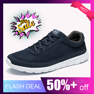 Image 2 - أحذية ذكية عادية للرجال واسعة تنفس أحذية رياضية حذاء رجالي خفيفة الوزن رجل أسود المشي الأحذية موضة حذاء رجالي كاجوال