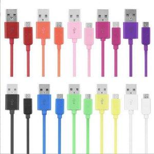 Многоцветная 1 м USB быстрая зарядка V8 длинный провод Шнур кабель для передачи данных для мобильного телефона зарядное устройство Короткий ...