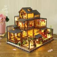 2020 NEW Wooden Hand Assembled Building Model DIY Cottage Large Villa Creative Girl