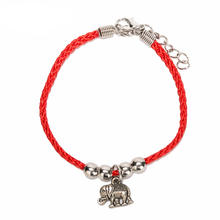 Fashion Elephant Palm Owl Infinity Red Rope Bracelet For Women Men Charm hand Jewelry Gift DropShipping(China)