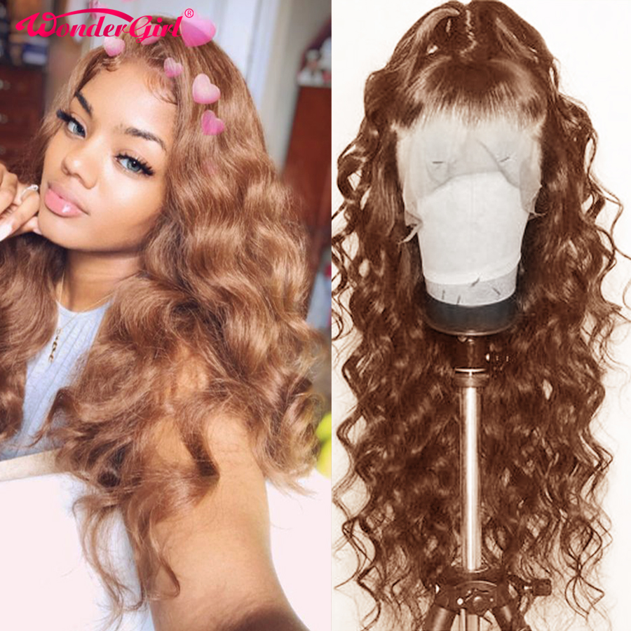 Wonder Girl #4 Body Wave Wig Remy 360 Lace Frontal Wig 250% Pre Plucked Lace Front Human Hair Wigs For Women Peruvian Lace Wig