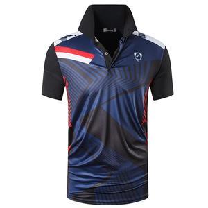 Image 2 - Jeansian גברים של ספורט טי פולו חולצות POLOS Poloshirts גולף טניס בדמינטון יבש Fit קצר שרוול LSL267 Black2