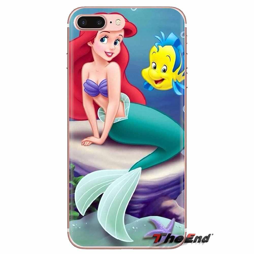Untuk Samsung Galaxy S2 S3 S4 S5 Mini S6 S7 Edge S8 S9 Plus Note 2 3 4 5 8 coque Fundas Ariel Putri Duyung Kecil Soft Shell Cover