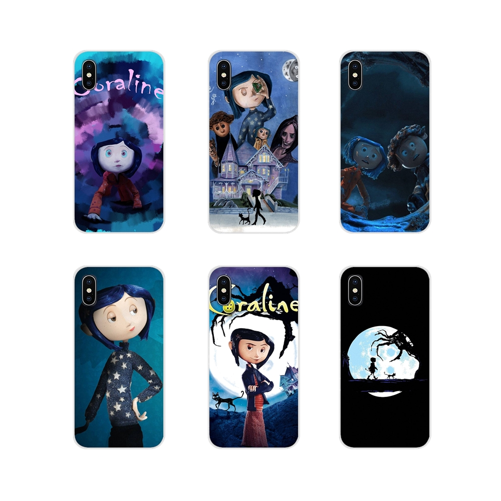 For Apple iPhone X XR XS 11Pro MAX 4S 5S 5C SE 6S 7 8 Plus ipod touch 5 6 Coraline Accessories Phone Cases Covers