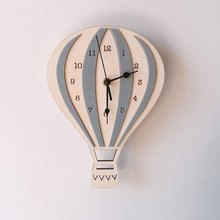 Nordic Hot Air Balloon Wall Clock For Children Room Wall Clock Home Decoration Mute Colorful Acrylic Wall Watch Unique Kids Gift(China)