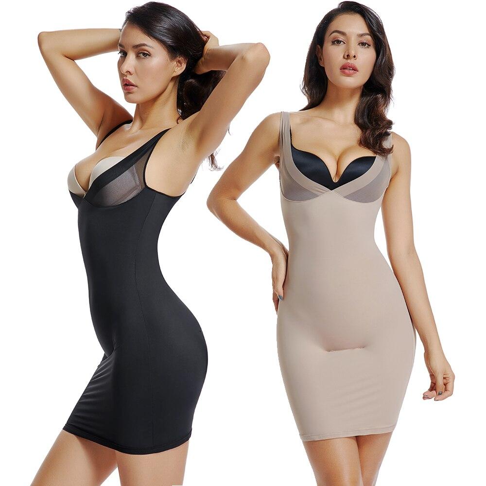 Women Slimming Underwear Lining Control Slip Dress Sexy Lingerie Body Shaper Bodysuit Waist Trainer Adjustable Corset Shapewear