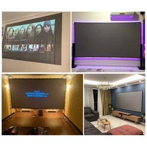 Image 5 - Projection Screen 72 84 100 120 Inch 16:9 4:3 Reflective Cloth for XGIMI H1 H2 H1S Z6 Z5 Z3 JMGO J6S E8 UNIC UC40 UC46 Projetors