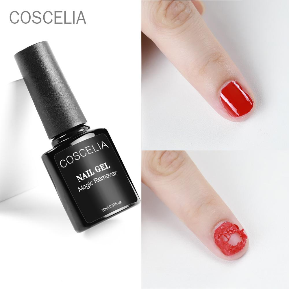 COSCELIA Remover Gel Nail Polish Remover Peel off Varnishes Base Top Coat without Soak off water