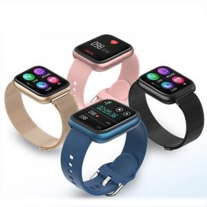 Image 4 - SENBONO w pełni dotykowy P6 pasek do smarwatcha mężczyźni kobiety zegarek sportowy pulsometr snu inteligentny zegarek do monitorowania tracker na telefon