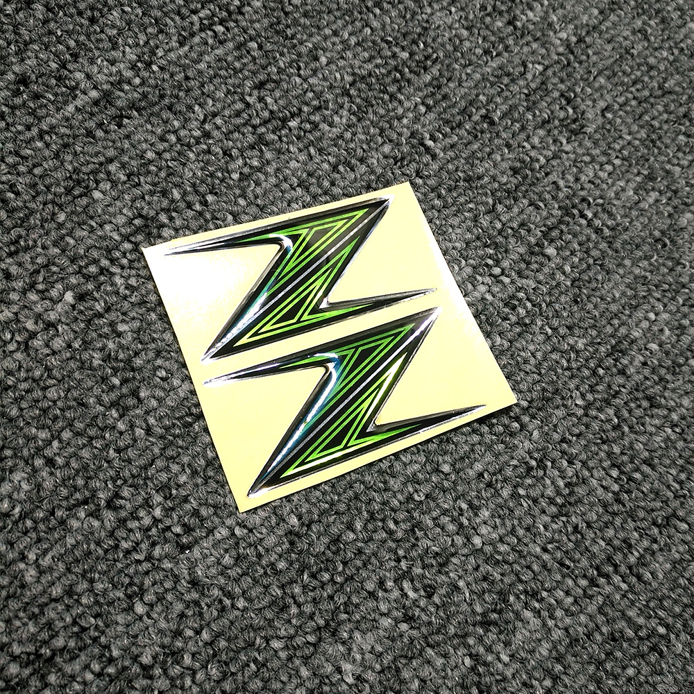 Z H2 Motorcycle Decal Stickers Shape 3D Tank Pad Emblem Z For Kawasaki Z125 Z250 Z300 Z400 Z650 Z750 Z800 Z900 Z1000 ABS Logo