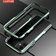Lüks metal tampon durumda iPhone11 Pro alüminyum çerçeve için sert koruyucu kapak iphone x XS MAX XR 7 8 artı tampon durumda