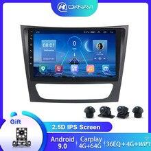 راديو السيارة لمرسيدس بنز Autoradio مشغل وسائط متعددة راديو Carplay ل E-class W211 E200 E220 E240 E270 E280 E300 E350 2 Din