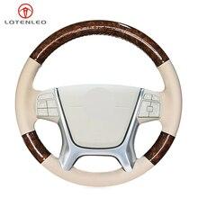Steering-Wheel-Cover Volvo S80 Car Beige Genuine-Leather LQTENLEO for Wood-Grain XC60