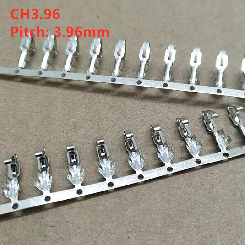 100pcs/lot CH3.96 Terminal Plug Connectors Spacing 3.96MM Wire Cable Housing Female Pin