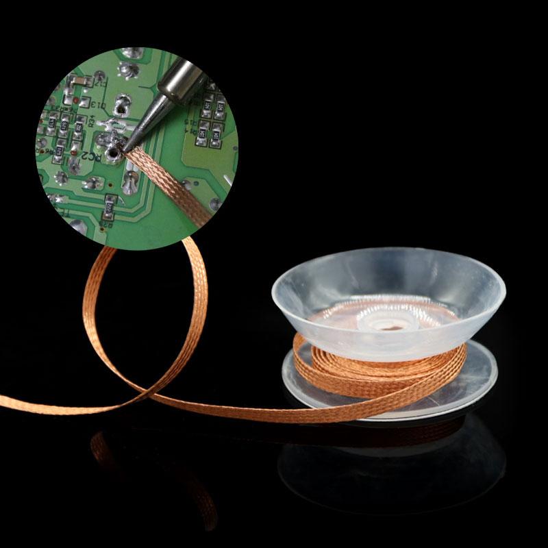 Desoldering Braid Welding Solder Remover Wick Wire Lead Cord Flux BGA Repair Tool 1.5 Meter Width 1.5mm 2mm 2.5mm 3mm 3.5mm