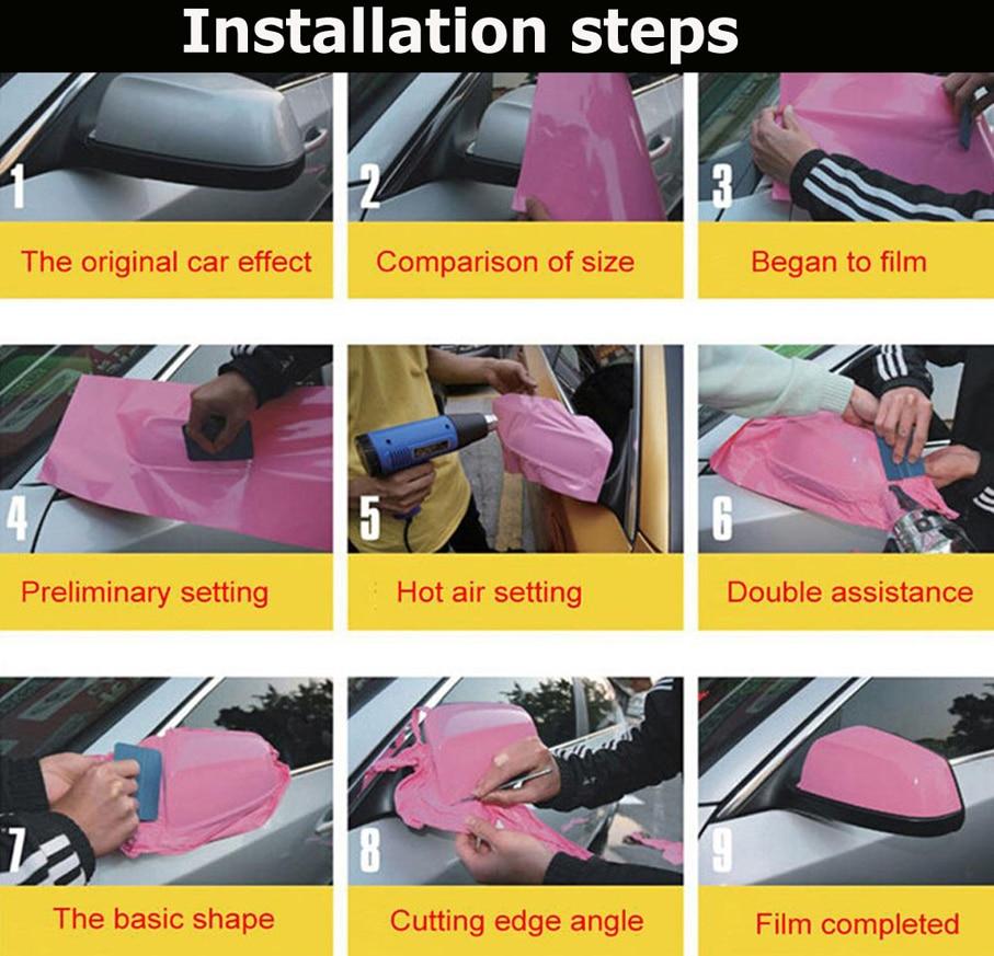 Новейшая Высокая растягивающаяся Водонепроницаемая УФ-защита красная хромированная зеркальная виниловая пленка рулонная пленка для автомобиля Наклейка Лист