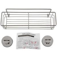 Aço inoxidável NON-RUST banheiro chuveiro prateleira armazenamento sucção cesta caddy