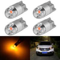 4 Uds. De bombillas LED T10 W5W 3030 SMD 168 194 W5W, luces de señalización para lectura de coche, 12V, cristal ámbar, blanco, azul, rojo, verde