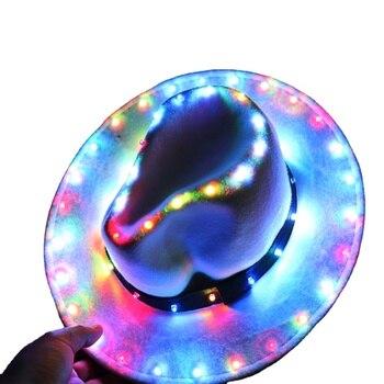 Glow LED Hat Party Luminous Cap Neon LED Light Costume Party Fluorescent DJ BAR Dance Performances Carnival Party Props party glow bangle fluorescence light glow bracelets necklaces neon wedding christmas party glow bangle bright colorful bangle