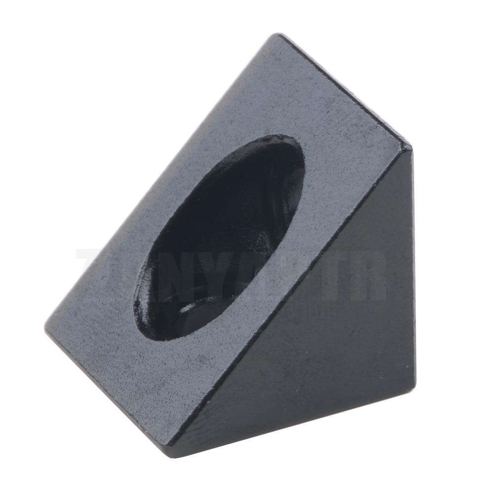 1pcs V-slot Black Angle Corner Connector 90 Degree Angle Bracket For Openbuilds Cnc Mill 3d Printer Diy Parts