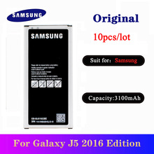 10pcs/lot Original Battery For Samsung Galaxy J5 2016 Edition J510 J510FN J510F J510G High Quality Batteria EB-BJ510CBE 3100mAh original replacement samsung battery for galaxy 2016 version j5109 j5108 j5 sm j510 genuine eb bj510cbe eb bj510cbc 3100mah