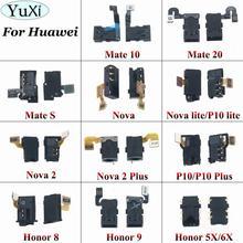 YuXi Earphone Headphone Audio jack Flex Cable For Huawei P10 lite Nova lite  Nova 2 P10 Plus Honor 8 9 5X 6X Mate 10 20 S earphone headphone audio jack flex cable for huawei p9 p10 p20 lite plus for honor 8 9 10 lite for mate 20 lite repair parts