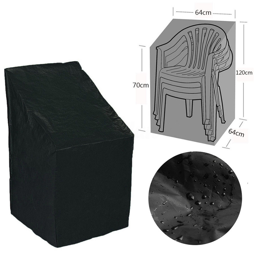 Stacked Chair Dust Cover Storage Bag Outdoor Garden Patio Furniture Protector High Quality Waterproof Dustproof Chair Organizer|All-Purpose Covers| |  - title=