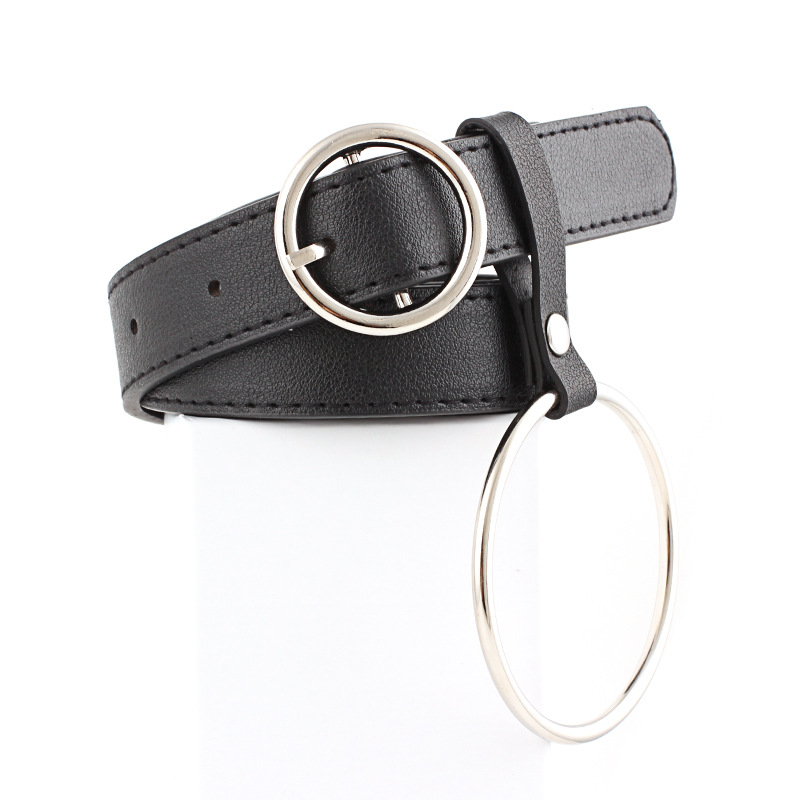 Dvacaman New Chic Round Pin Buckle Solid Leather Belt Women Combination Fashion Rings Ladies Waistbands Accessories Party Gift