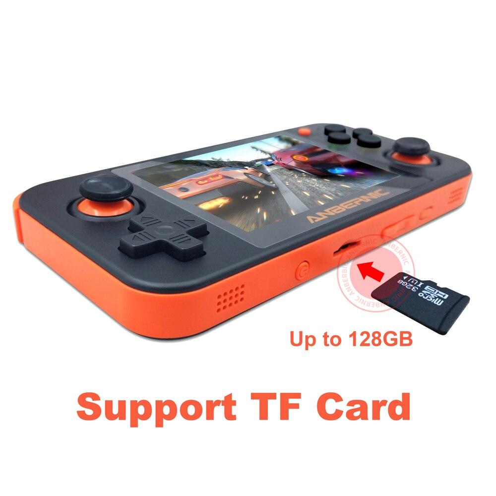 ANBERNIC nuevo juego Retro RG350 consola de videojuegos portátil MINI 64 Bit 3,5 pulgadas pantalla IPS 16G + 32G TF jugador de juegos RG 350 PS1 - 5