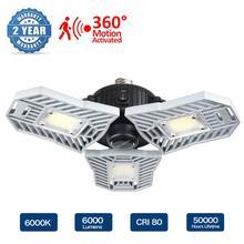 E27 LED הנורה 60W 6000Lm בעוצמה גבוהה Deformable מנורת SMD2835 AC85 265V עבור חניה מקורה תעשייתי מחסן Led תעשייתי