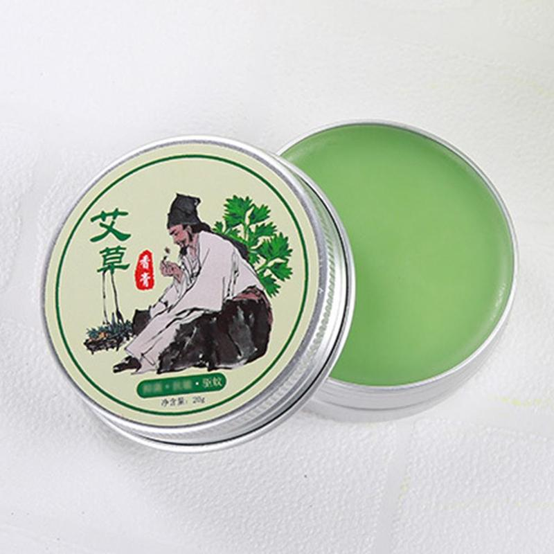100% Original 1 Bottle Moxibustion Cream Herbal Moxa Acupuncture Anti-inflammation Moxibustion Cream Pure Tsao Mugwort