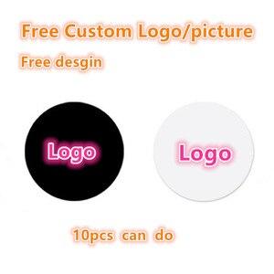 10-500 шт. бесплатный индивидуальный логотип или изображение, Круглый мобильный телефон, складной растягивающийся держатель для телефона