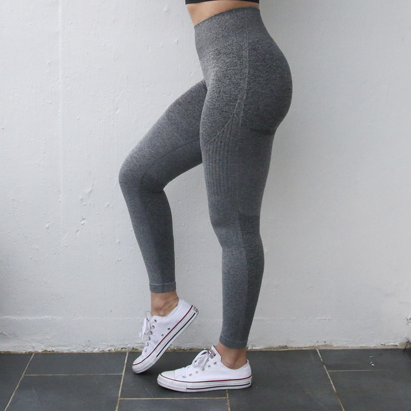 Nepoagym Women Ombre Seamless Leggings In TEAL High Waisted Yoga Pants Woman Sport Leggings Training Tights Gym Fitness Leggings in Yoga Pants from Sports Entertainment
