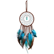 Wind Chimes Handmade Dream Catcher Feathers Decoration Car Hanging Wall Hanging Room Home Decor Dreamcatcher Car Pendant Gifts