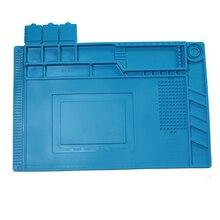 Izolacja cieplna silikonowa podkładka lutownicza mata biurkowa platforma konserwacyjna do stacji naprawczej z magnetycznym s 160 s 170