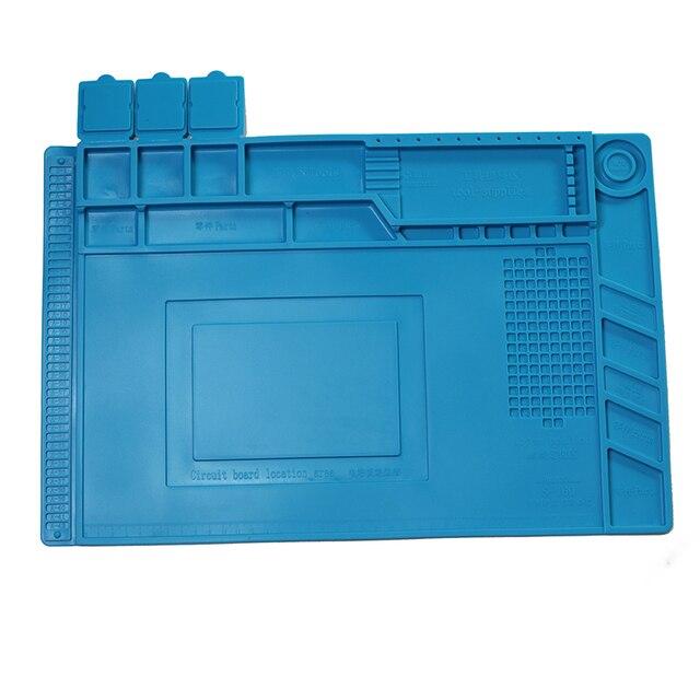 Wärmedämmung Silikon Löten Pad Matte Schreibtisch Wartung Plattform Für Reparatur Station Mit Magnetische s 160 s 170