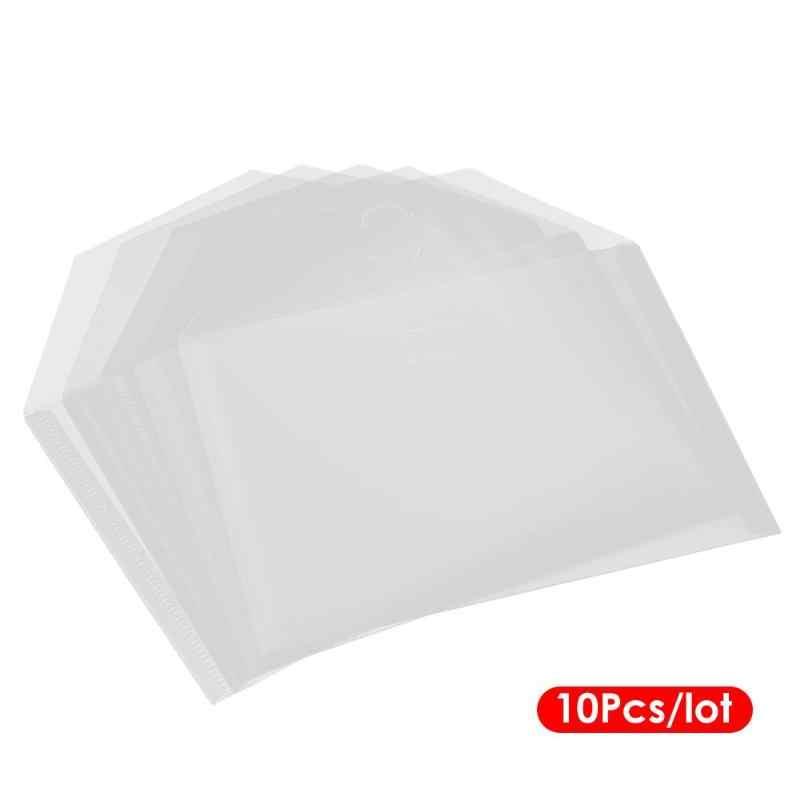10 Uds. Bolsa de archivos de polipropileno transparente sello recoger caja Scrapbooking bolsa de almacenamiento DIY Plantilla de colección de recortes troqueles de corte bolsa de almacenamiento