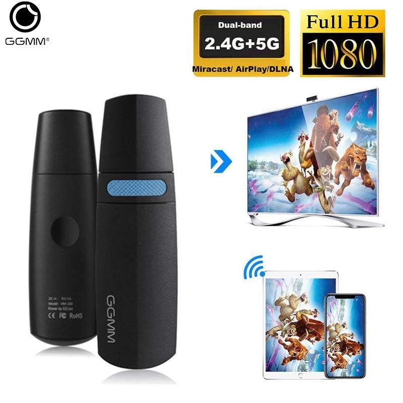 GGMM mise à niveau 5G + 2.4G sans fil affichage Dongle Mini enregistrement Streaming émetteur HDMI Wifi affichage adaptateur Miracast Dongle avec Fu