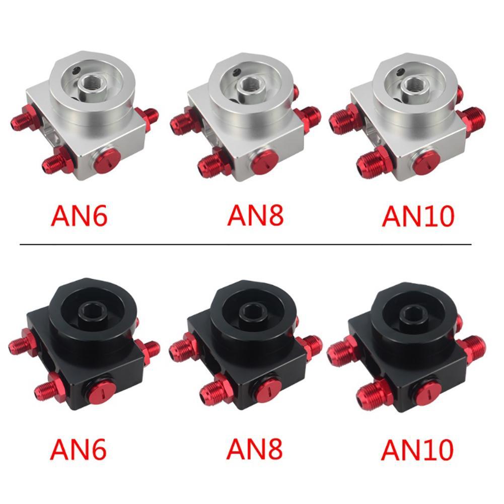 LZONE-filtre à huile Sandwich adaptateur avec filtre à huile bloc à distance avec Thermostat 1xAN8 4xAN6/AN8/AN10 JR5675 - 5