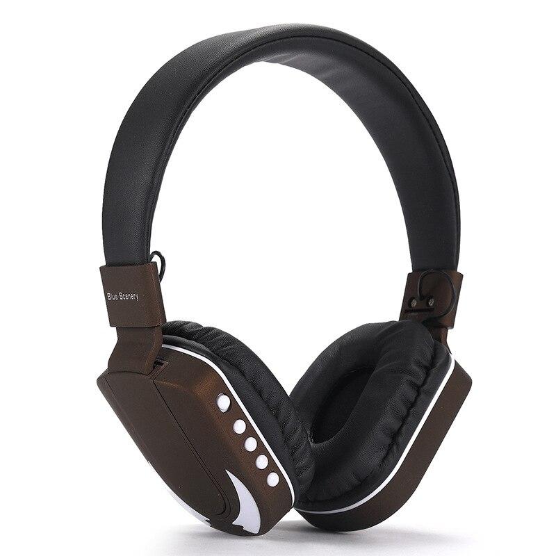 Fashion Wireless Bluetooth Headset Led Flashing Headphone Light Headband Subwoofer TF Card FM High Quality