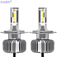 JIAMEN H7 Led Car Headlight Fanless H11 H4 Led Bulb 9005 HB3 9006 HB4 Led Light H8 Car Light 24V 12V Auto 50W 6000LM 6000K CSP 1 set h7 60w 8400lm p7 auto led headlight system fanless all in one korea csp led 12 24v xenon white 6000k driving high power