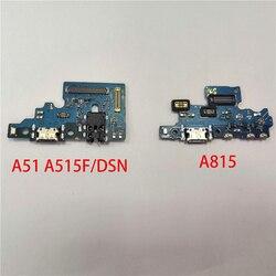 Oryginalny Port ładowania złącze czujnika dokowania przycisk Menu wymiana kabla Flex dla Samsung Galaxy A51 A515 A815
