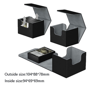 Image 2 - Nieuwe Collectie Retro Pu Capaciteit Doos Trading Cards Container Collectie Voor Bordspel Mouw Houder Case
