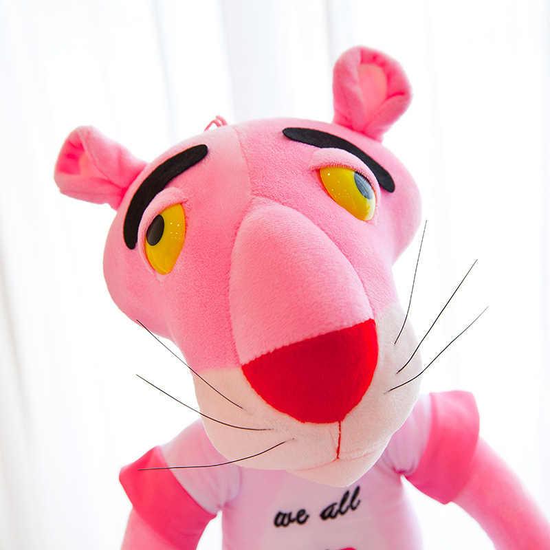 Muñeco de Pantera Rosa de felpa de fábrica al por mayor juguete Corazón de niña de estilo coreano muñeco de Pantera Rosa para dormir con almohada para un regalo de novia