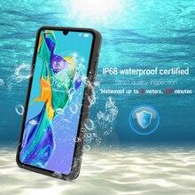 Ip68 à prova dip68 água caso para huawei p40 companheiro 30 p30 p20 pro claro mergulho subaquático proteger capa para huawei p30 p20 lite caso do telefone