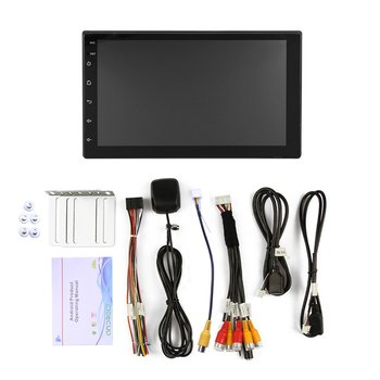 New Double Din 7 Inch 1080P Android 8.1 Car Stereo Gps Navigation Radio Player 1G+16G Wifi With 5 Points Capacitive Touch Screen