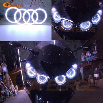 цены For Kawasaki Ninja ZX14 zx14r ZZR1400 2006-2011 Excellent Ultra bright illumination COB led angel eyes kit halo rings