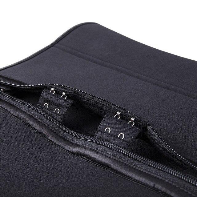 Waist Cinchers New Zipper Latex Waist Cincher Corset Underbust Body Sweat Waist Trainer Belt High Compression Shaper 3