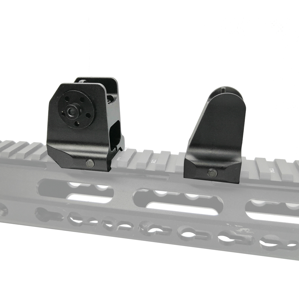 Magorui Tactical Rail Mount Fixed Front Rear Iron Sight Weaver Picatinny Rail Sight for Hunting AR15 M4/M16 Rifle