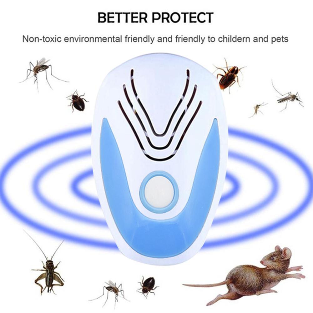 Ultrasonic Electronic Indoor Anti Mosquito Rat Mice Bug Pest Repeller Plug-In